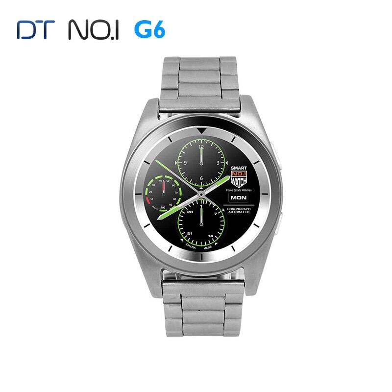 imágenes para NO. 1 G6 MTK2502 Bluetooth 4.0 Inteligente Reloj Monitor de Ritmo Cardíaco Deportes Fiteness Rastreador Remoto cámara Smartwatch para Android iOS