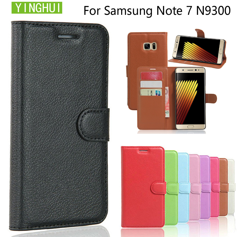 YINGHUI Cover For Samsung Galaxy Note 7 N9300 Phone Case Leather Wallet Flip Cover Card Holder Case For Samsung Galaxy Note7