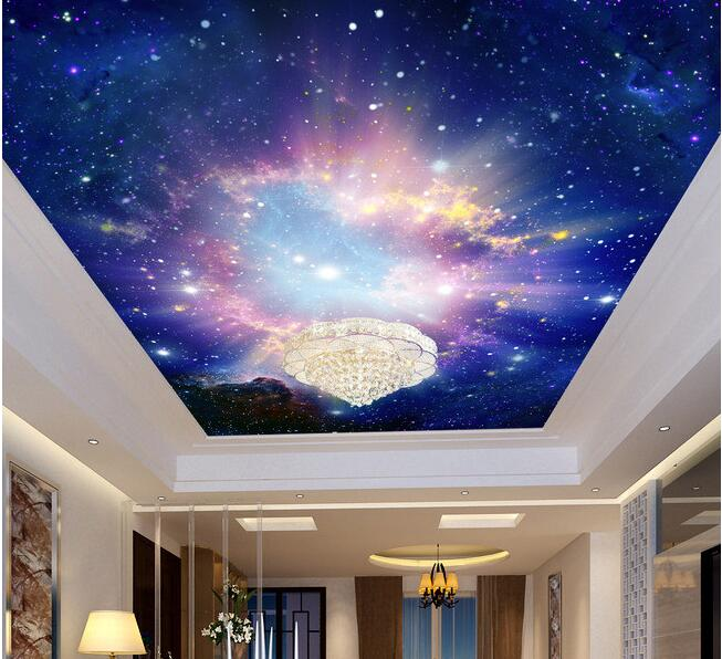 3d wallpaper custom mural non woven dazzle beautiful sky for Top rated ceiling paint