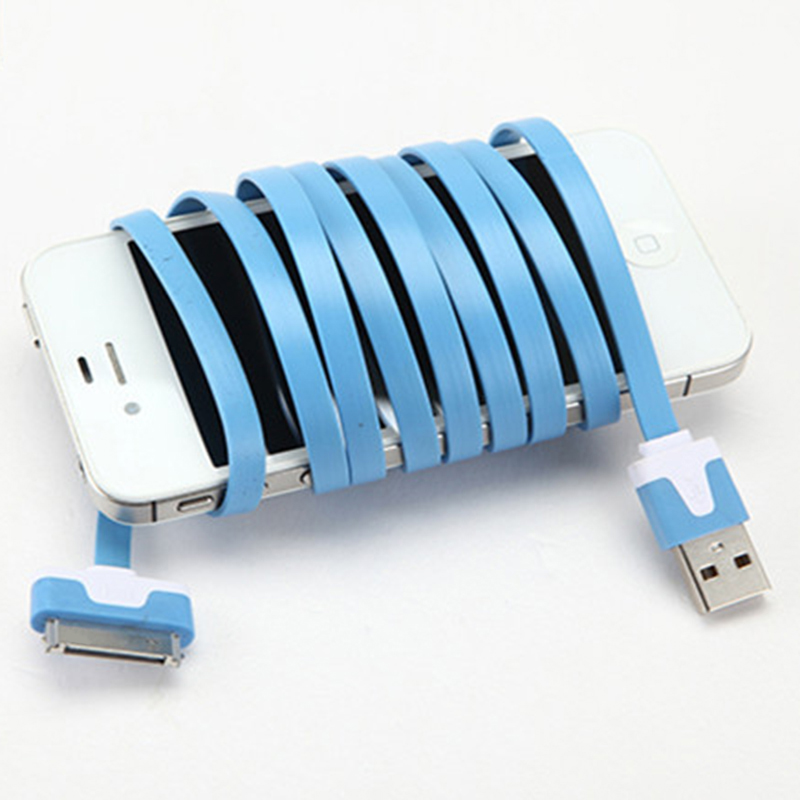 1m 2m 3m Noodle long 30 pin power charging charger data transfer ...