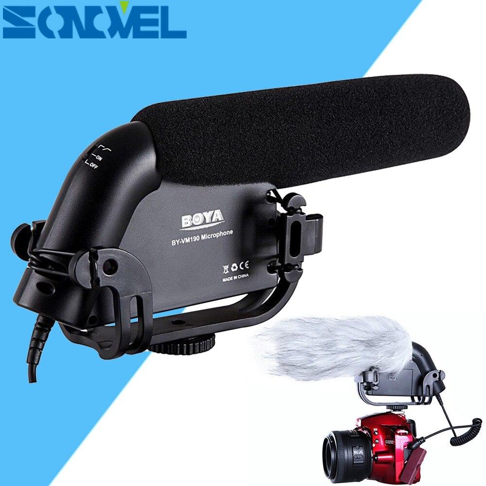 BOYA BY-VM190 3.5mm MIC jack Shotgun Condenser Microphone For Canon EOS 800D 760D 750D 700D 650D 200D 80D 77D 7D 6D 5D Mark IV boya by vm190 черный