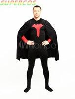 Alta Calidad de Halloween Fiesta de Carnaval Rojo Y Negro Lycra Spandex Superhéroe Traje Zentai Catsuit