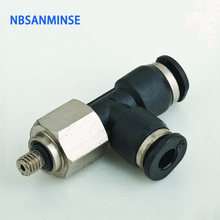 10Pcs/lot PD - C Compact One Touch Fitting Mini Fittings Pneumatic Parts Male Run Tee Air Compressor Sanmin