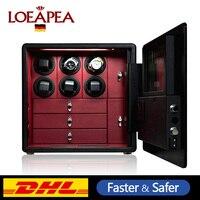 Новая автоматическая заводчик для часов Сейф Сталь strongbox шкаф для 6/9/12 часов и ювелирных изделий безопасности хранения box Limited edition подарок