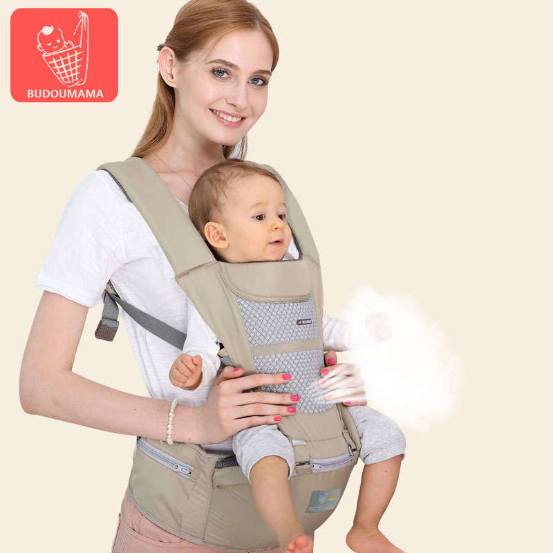 Breathable Baby Carrier Cotton Newborn Infant Waist Stool Portable Baby Summer Waist Stool Durable Baby Carrying Belt