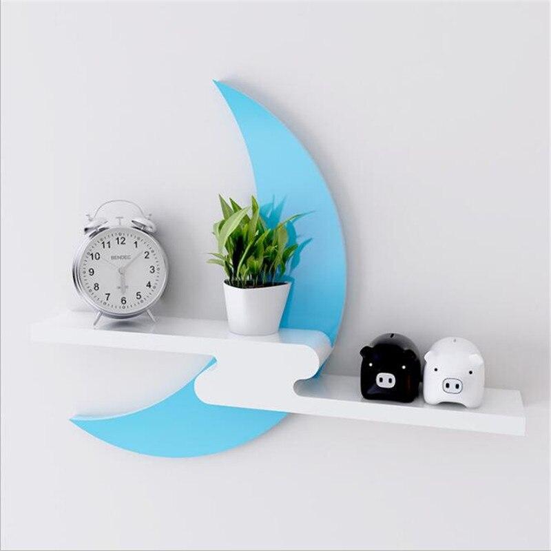 Wall Hanging Shelf Goods Convenient Rack Storage Holder Home Bedroom Decoration wood wall shelf racks 3 colors