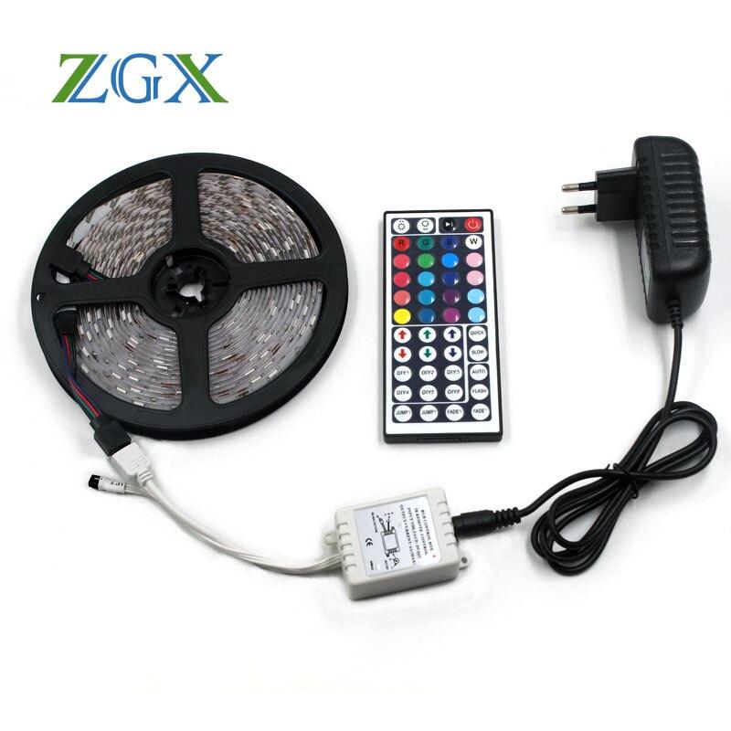 Kit de Tira de Luz LED Blanco Frío Control Remoto Adaptador 12 V debajo de armarios Rgb 5 M RGBW