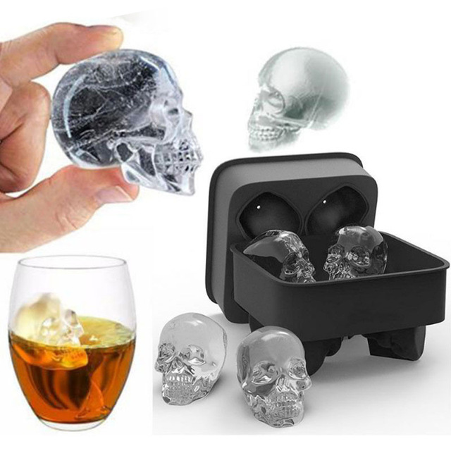 Skull Shape Ice Mold