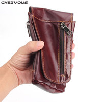 CHEZVOUS 6.3'' Universal Retro Soft Leather Case For Huawei P20 lite P20 Pro Mobile Phone Bag Belt Pouch Case for Xiaomi/Samsung