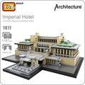 LOZ идеи Мини-Блок Imperial Hotel Токио Япония Гостиницы Архитектура Строительные Блоки DIY Игрушка Bircks Детей Подарок Модель Игрушки 1017