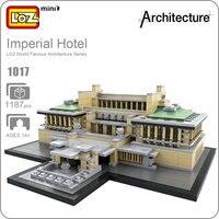 LOZ Mimarlık Yapı Mini Blokları Grand Otel Plastik Montaj Modeli DIY Oyuncaklar Çocuklar Için Imperial Hotel House Oyuncak Çocuk 1017