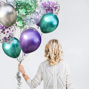 30Pcs 12inch Multi Metallic Confetti Latex Balloons Confetti Balloons Inflatable Ball For Wedding Party Balloon Supplies