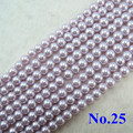 Wholesale Light Purple Imitation Glass Pearl Beads Round Spacer Loose Pearls DIY Jewelry Accessories  4.6.8.10.12.14mm GL-18
