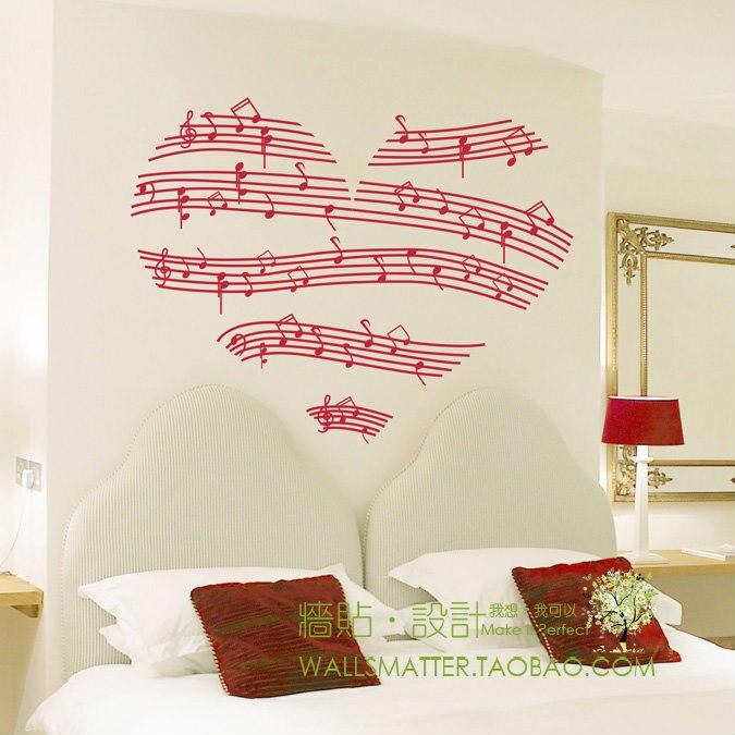 90x73cm Free shipping romantic heart shaped notes decorative wall ...
