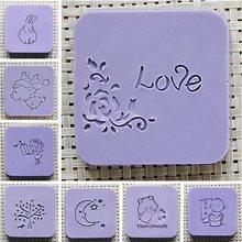 Handmade Soap Stamp Mini DIY Natural Resin Acrylic Crystal Transparent Seal for