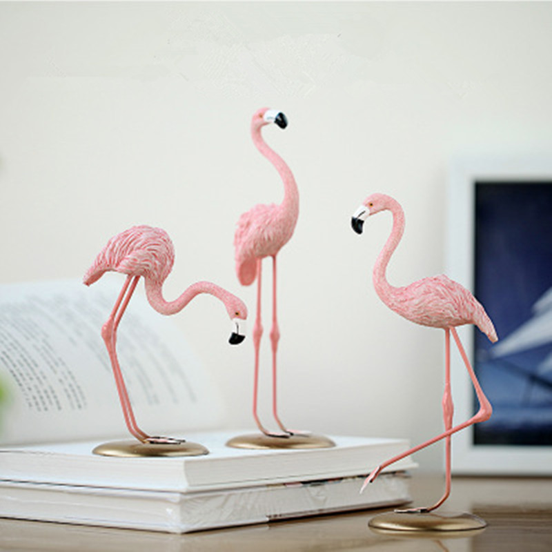 Ins Flamingo Decoration For Living Room Romatic Wedding Party Ornament Accessories Birthday Party Supplies Kids Valentines Gift