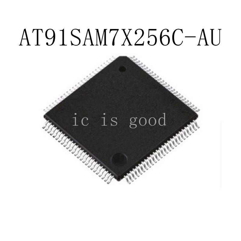 2PCS AT91SAM7X256C AT91SAM7X256C AU QFP 100