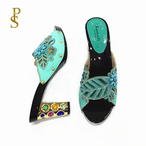 Image 5 - Womens high heels Beautiful ladiess shoes with diamonds party shoes