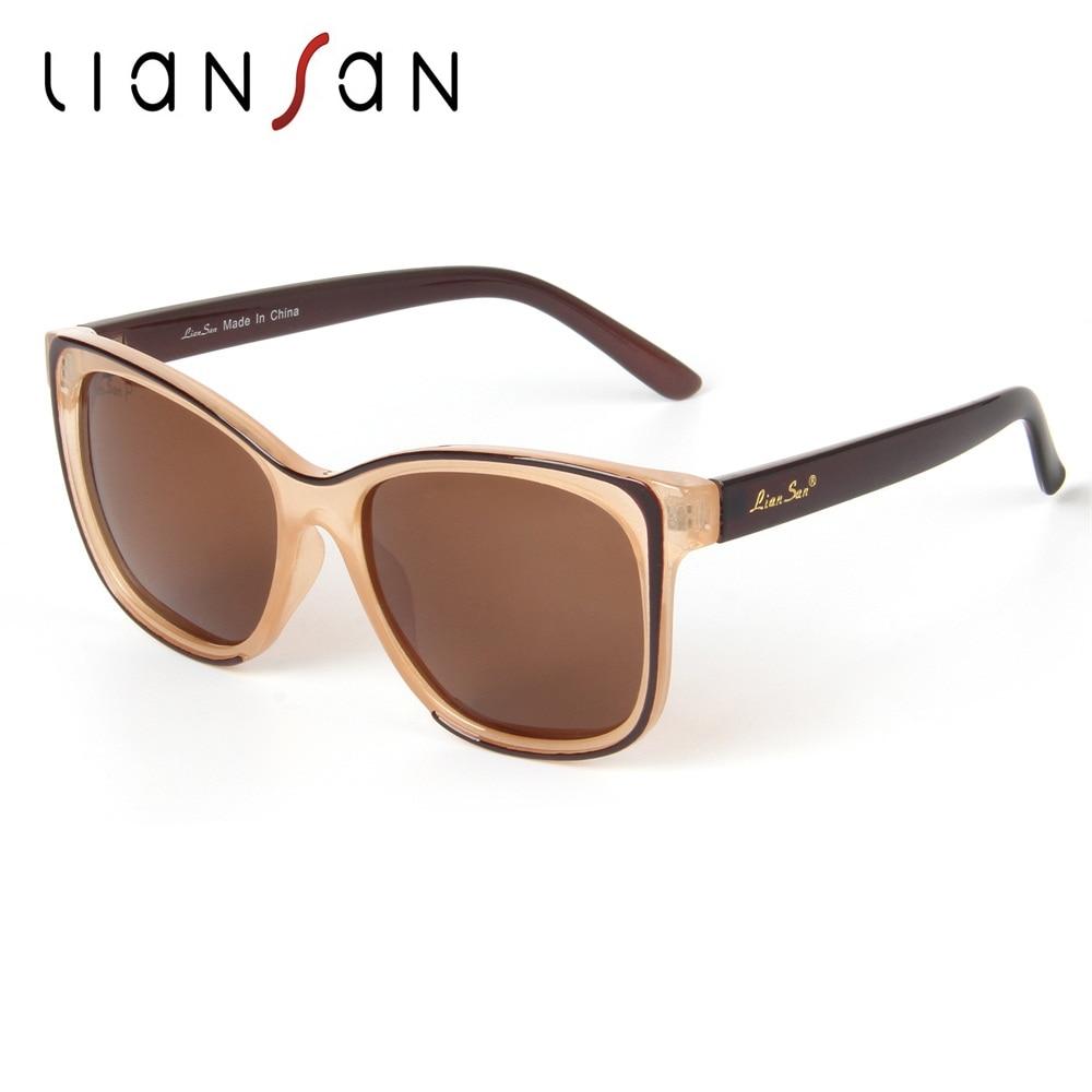 LianSan Pilot Vintage font b Polarized b font Square Female Sunglasses Women Aviator Brand Designer Retro