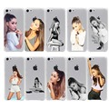 beautiful ariana grande Crystal Hard Hollow Out Transparent Case Cover for iPhone 7 7 Plus 6 6S Plus 5 5S SE 5C 4 4S