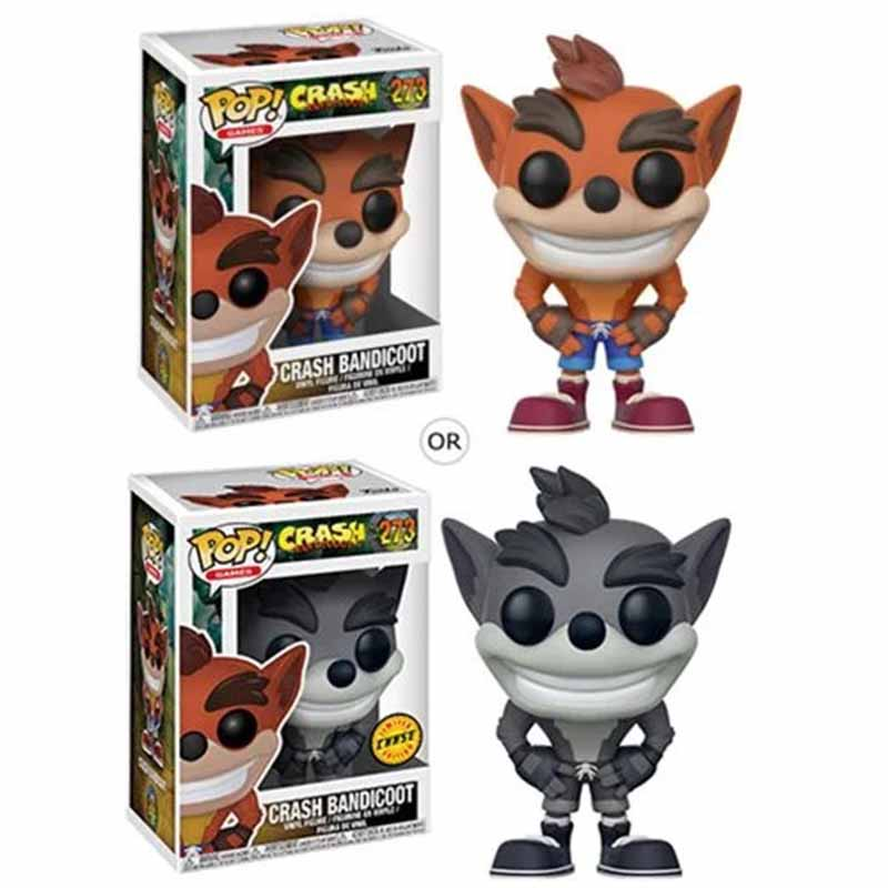 FUNKO POP Crash Bandicoot Figures PVC Action Figure Collection Model Doll Kids Gifts Toys Figurine Dolls 10CM With Box