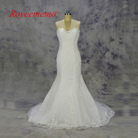 2017 3D Lace Mermaid Wedding Dress Classic Design Bridal Gown Custom Made Wedding Gown Factory Directly