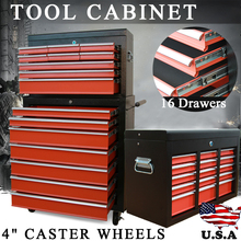 Shellhard Home Storage Box Mechanic Trolley Tool Box Cabinet with 16Drawers 4 Castor Rolling Toolbox Part A+Part B