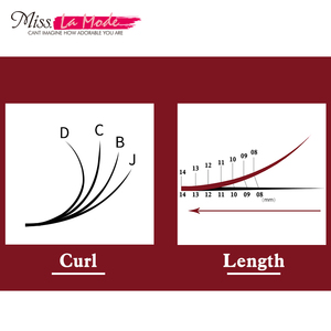 Image 3 - MissLaMode 16rows professional   individual Eyelashes Extension Russia Volume eyelash extension supplies materials