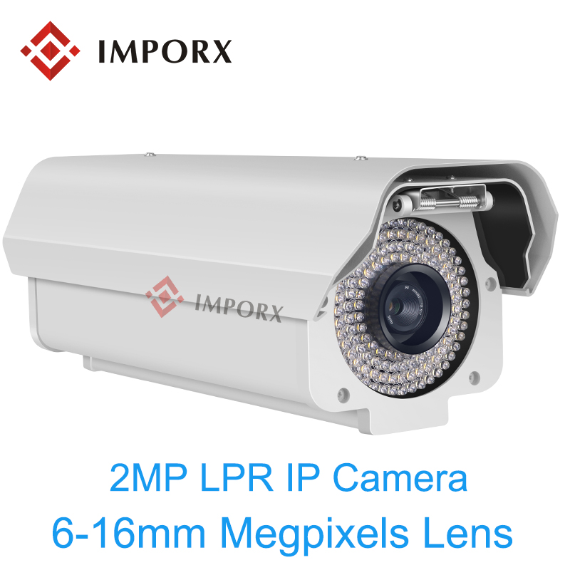все цены на 2.0MP ANPR Vehicles License Plate Recognition LPR IP Camera 6-16mm Lens HD 1080P Outdoor IP Camera for highway & parking lots онлайн