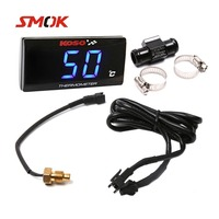 SMOK Universal Motorcycle Thermometer Instruments Water Temp Temperature Digital Display Meter Gauge Sensor Adapter For KOSO
