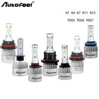 Car Headlight Bulb Led H1 H4 H7 H11 H13 9005 9006 9007 Voiture Headlamp Ampoule 72W