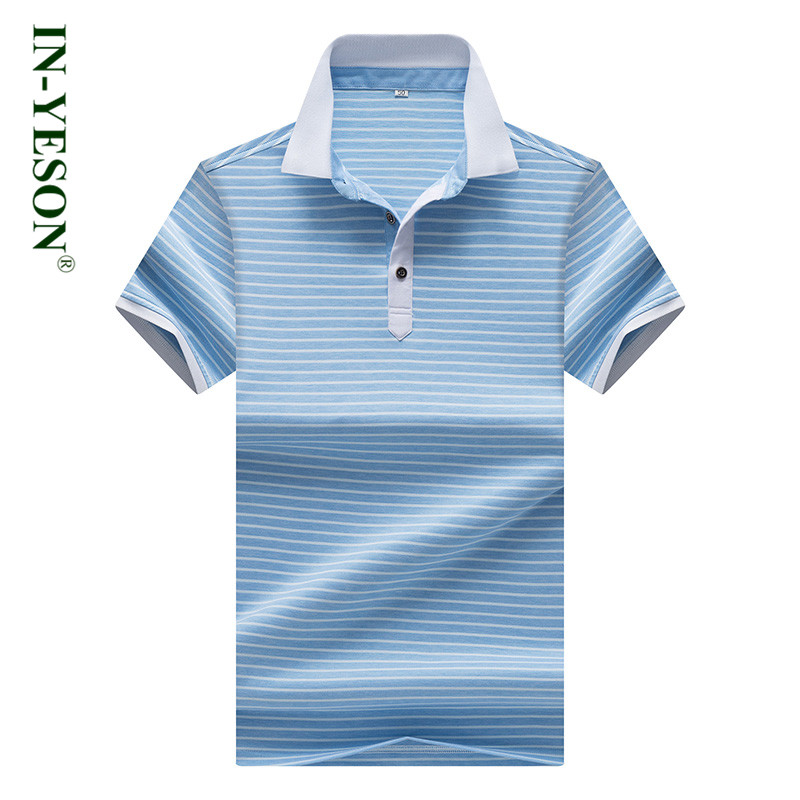 2018 Brand Men's Polos Summer Breathable Cotton Polo Shirt Men Simple Design Slim Fit Casual & Business Striped Men's Polo Homme