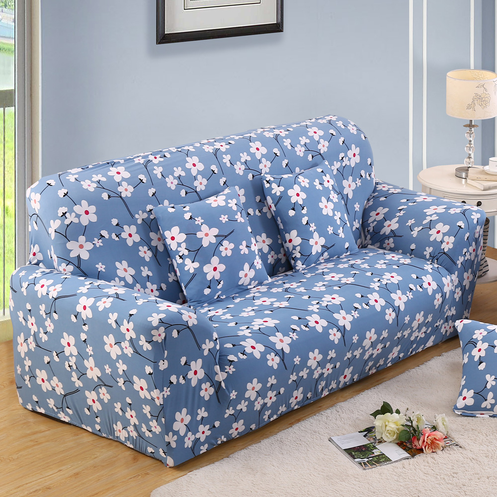 Flower Slipcover Sofa Cover Tightly Wrap Single Double Three Four Seat Elasticity Chair 1 Piece