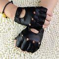 Мужские перчатки унисекс из искусственной кожи, Вечерние перчатки без пальцев в стиле панк, хип-хоп, для вождения, мотоцикла