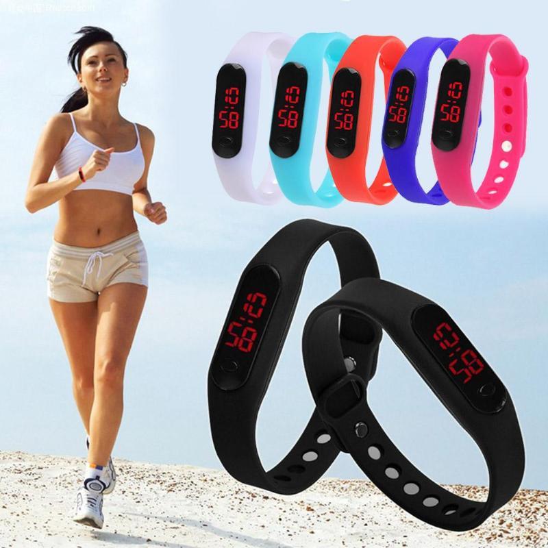 Fashion Sport Watch LED Display Electronic Digital Watch Ladies Unisex Bracelet Watch clock Montre Homme Relogio Feminino hot(China)
