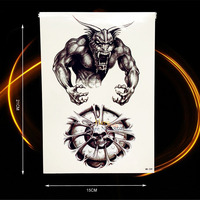 1PC Metal Power Black Monster Fake Temporary Tattoo Stickers HHB-249 Men Body Art Arm Sleeve Compass Tattoo Paste Shoulder Chest
