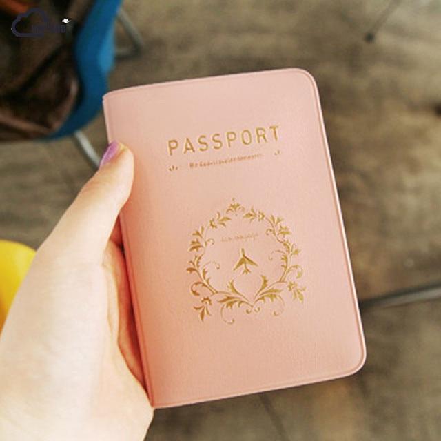 ISKYBOB mejor Utilidad de viaje Simple pasaporte ID tarjeta funda soporte Protector piel PVC