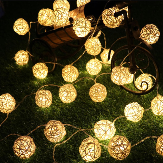 Landscape Lighting 8 Meters LED Solar Lanterns Holiday Garden Christmas  Wedding Solar Lights Party Decoration Outdoor