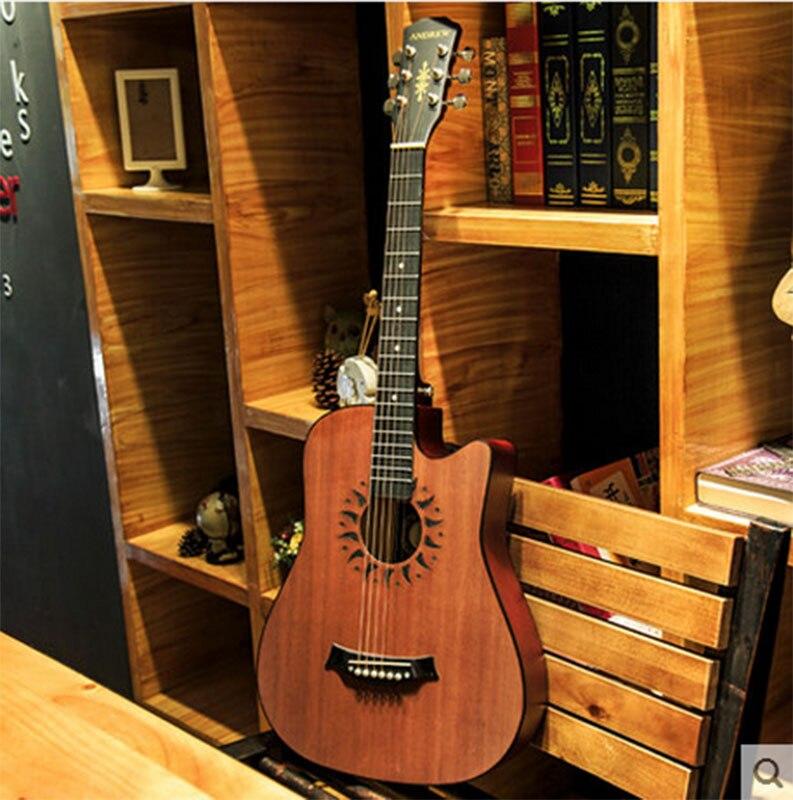 Andrew Instruments de Musique 38 pouce folk guitare novice débutants débutants pratique piano
