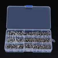 MAYITR 200Pcs Stainless Steel Screws 7 Sizes Pan Head Phillip Tapper Self Tapping Screw Kit Fastener
