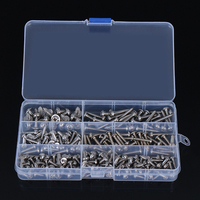 MAYITR 200Pcs Stainless Steel Screws 7 Sizes Pan Head Phillip Tapper Self Tapping Screw Kit Fastener