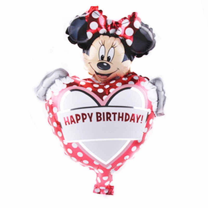 TSZWJ جديد ميني ميني ميكي. كعكة الألومنيوم بالون ألعاب أطفال حفلة عيد ميلاد بالون الزخرفية بالجملة