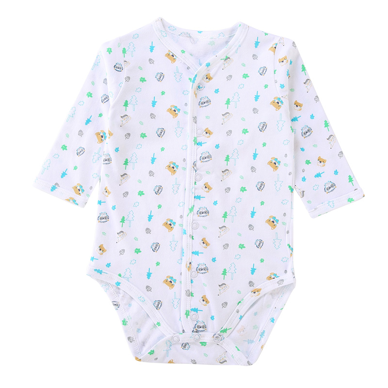 Baby Rompers Pyjamas Kids Clothes Baby Clothes Front Opening Newborn Jumpsuit Boy & Girl Clothes Spring Autumn Children Clothing