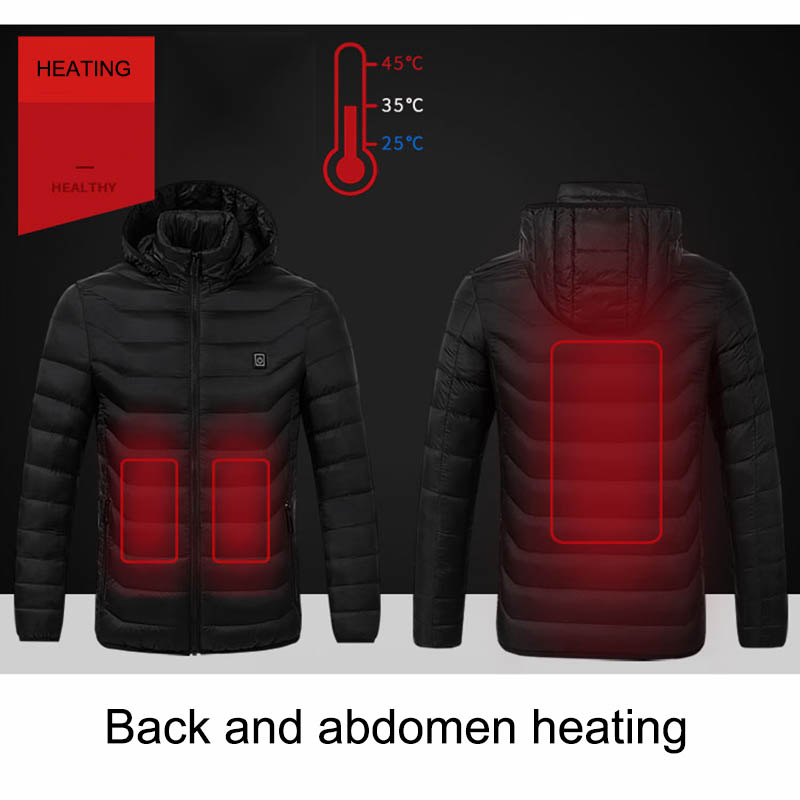 Image 3 - USB Smart Charging Heating Jacket Winter Thermal Clothing Body Heating Warm Thermostatic Clothes (Power bank not included)-in Safety Clothing from Security & Protection