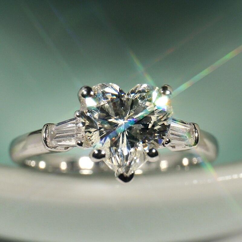 Choucong Wieck 5A CZ pierres 925 argent Sterling princesse poire coupe bijoux femmes mariage coeur bande anneau choucong Sz5-11
