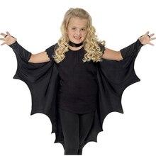 חם ליל כל הקדושים ילד מפואר שחור בת קוספליי תחפושות כנפי עבור בני בנות ילדים מסיבת ערפד ביצועים גלימת בגדים