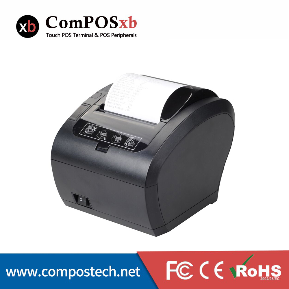 80mm thermal printer with cutter Factory straight hair wholesale cheap price POS printer cash register equipment printer thermal printer small note printer cash register printer portable usb interface printer 220v
