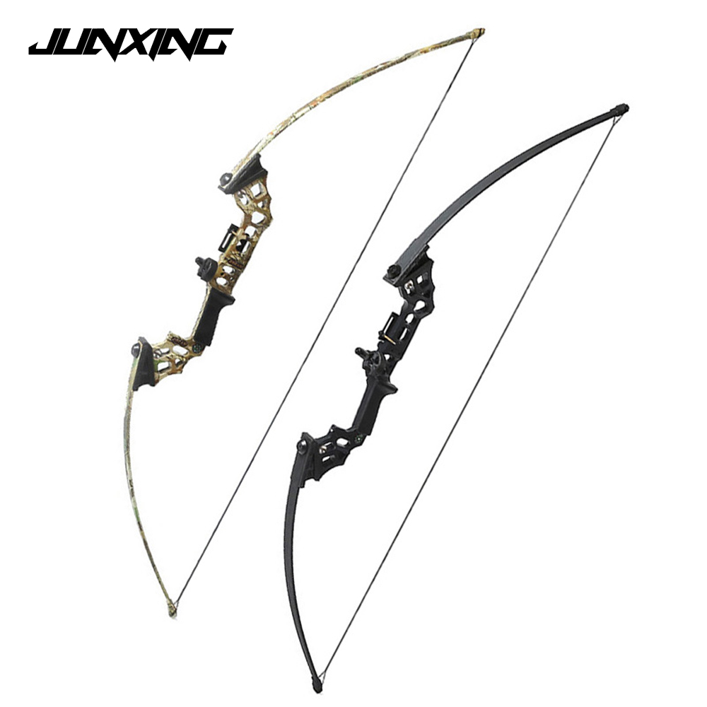 40 Lbs Straight Pull Bow Black/Camouflage Right Handed Archery Bow with a Compass for Outdoor Hunting Shooting shooting straight