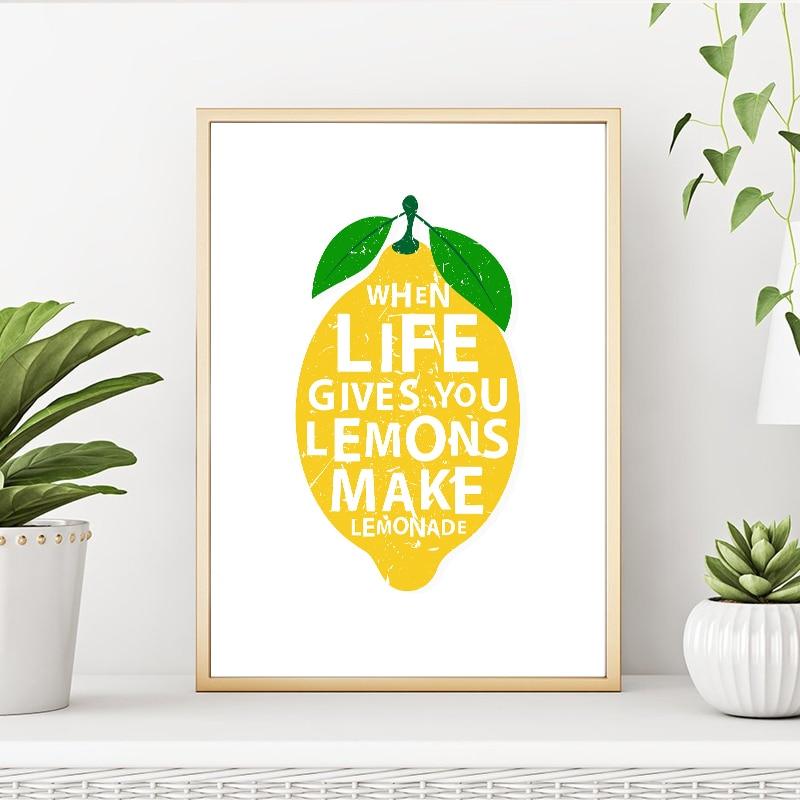 Modern Zaman Yasam Verir Limon Yapmak Lemonades Mutfak Dekoru