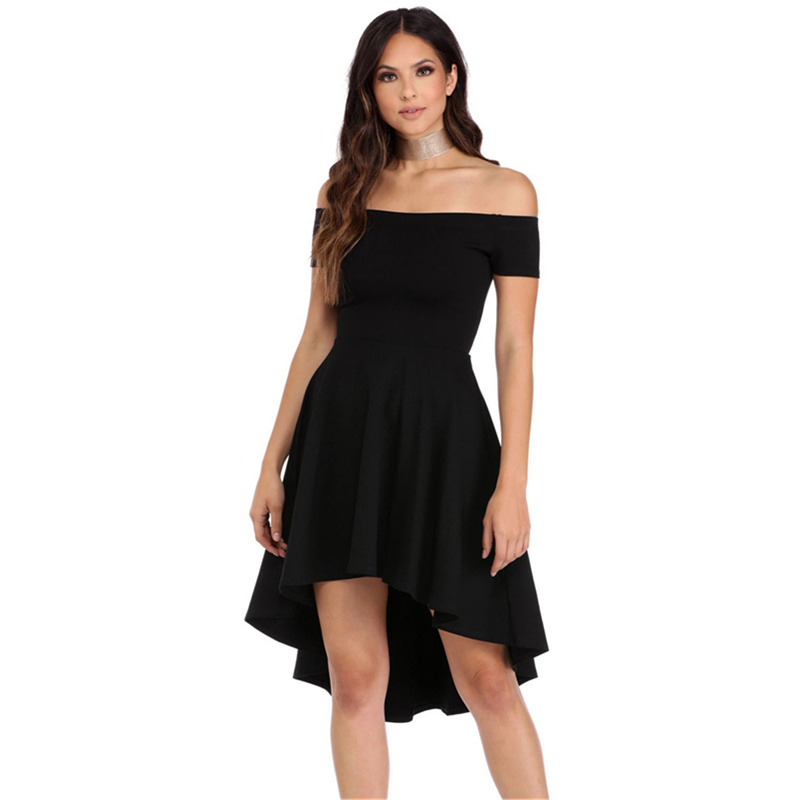 Summer Dress <font><b>2018</b></font> <font><b>Sexy</b></font> <font><b>Elegant</b></font> <font><b>Party</b></font> <font><b>Bodycon</b></font> <font><b>Club</b></font> <font><b>Off</b></font> <font><b>Shoulder</b></font> Dress Red Black Blue Casual Vintage Midi Dresses Plus Size image